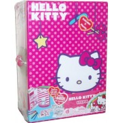 Sanrio Hello Kitty Keeper Box Set with 1 Keepers, 1 Hello Kitty Figurine, 5 Washable Markers, 2 Sticker Sheets...