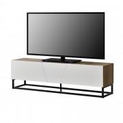 [en.casa]® Шкаф за TV LED осветление, Ефект Дърво