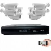 Kit vidéosurveillance IP 8 caméras 1mp 30m