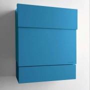 Radius Design Letterman 5 Briefkasten blau (RAL 5012) ohne Klingel ohne Pfosten