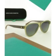 United Colors of Benetton Aviator Sunglasses(Green)