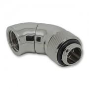 Fiting adaptor dublu rotativ EK Water Blocks EK-AF Angled 2x 45 grade G1/4 - Black Nickel