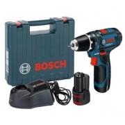 Bosch GSR 12V-15 solo in carton (0601868122) fúrócsavarozó akkuval és akkutöltővel