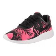 Nike Kids Tanjun Print (GS) Black/Black White Hyper Pink Running Shoe 7 Kids US