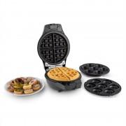 oneConcept Trinity Mini máquina de cake pop waffles donut 1000W preto