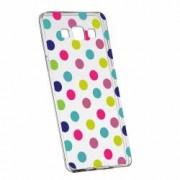 Husa Silicon Transparent Slim Dots Color Samsung Galaxy Core Prime
