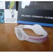 Balanční náramek s hologramem Power Balance - bílý-růžový