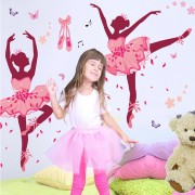 ISticker perete t all about dancing! Ballerina 60x90 cm