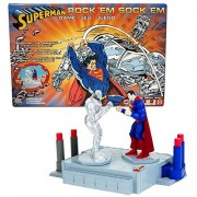 Mattel Year 2005 ROCK' EM SOCK 'EM SUPERMAN vs METALLO Game Set with Superman and Metallo Figure