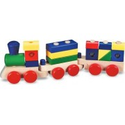 Trenulet din lemn de stivuit Melissa and Doug