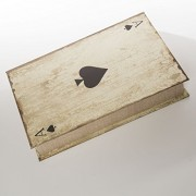 SMB Group Play More Poker Box in Wooden Box- Cards, Playing Chips and Dice included (Ace of Spades)