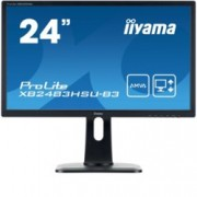 "Монитор IIYAMA XB2483HSU-B3, 23.8""(60.45 cm) AMVA панел, Full HD, 4ms, 80000000 : 1, 250 cd/m², HDMI, DisplayPort"