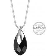 Levien Ladies ´Pear Metcap Neagră de cristal negru