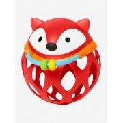 SKIP HOP Explore & More Chocalho maleável, Raposa redonda, da SKIP HOP vermelho vivo liso com motivo