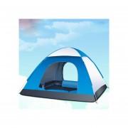 Pixnor Tienda Plegable Automática Para 3-4 Persona Familia Carpas Tienda De Playa Camping Doble Velocidad Para Abrir Rechazo (azul Y Gris)
