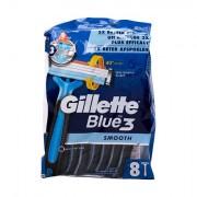Gillette Blue3 Smooth jednorázová holítka 8 ks pro muže