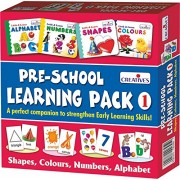 (CERTIFIED REFURBISHED) Creative Education Pre-School Learning, Pack 1 (Shapes, Colours, Numbers and Alphabet)