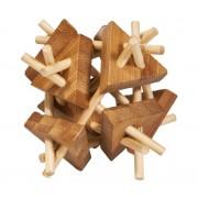 Fridolin Joc logic IQ din lemn bambus Sticks and triangles