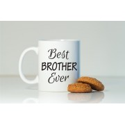 Grabadeal Beautiful White Best Brother Ever Coffee Mug Gift for Raksha Bandhan