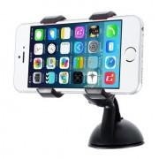 Shop4 - iPhone 6 Plus / 6s Plus - Autohouder Dashboardhouder Knijpklem Zwart
