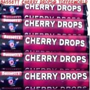 Bassett's Original Cherry Drops Roll Packs Sweets x 2 pks