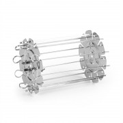 Klarstein AeroVital Cube Chef, forrólevegős fritőz, forgónyárs, kiegészítők, rozsdamentes acél (OV12-AV Skewer R)