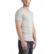 Garage T-Shirt V-neck Slimfit Grey Stretch (art 0202) - Licht Grijs - Size: Medium