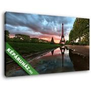 Eiffel-torony eső után (40x25 cm, Vászonkép )