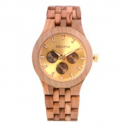 Bedate Women's Chronograph Bamboo Maple Wood Watch