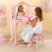 Masuta de toaleta si scaun Princess Vanity & Stool - Kidkraft