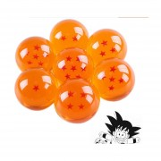 Set 7 Piezas Esferas Del Dragón De La Serie Dragon Ball Z, Gt, Kai, Super 4.4 Cm De Diámetro