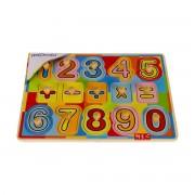 Puzzle din lemn MomKi Invatam sa numaram 15 piese