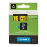 Dymo D1 Label Cassette 24mmx7m (SD53718) - Black on Yellow