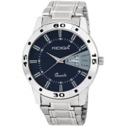 RIDIQA Blue DIAL Analog Sports Watch for Men/Boys /Black Stainless Steel Casual Stylish RD-179