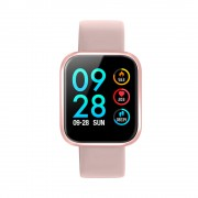 P70 1.3 inch IPS Color Screen Health Monitoring Fitness Tracking Smart Watch with Silicone Strap - Rose Gold
