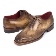 Paul Parkman Goodyear Welted Wingtip Oxford Shoes Antique Olive 87OLV54