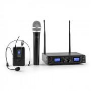 Duett Quartett Fix V3 Conjunto de Microfones Headset Sem Fios Wireless 4 canais UHF 50 m