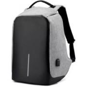 LS Letsshop Anti-Theft Water Resistant Computer USB Charging Port Waterproof Backpack(Grey, 25)