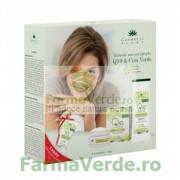 Set CADOU! Q10+ceai verde cu crema antirid zi, lapte demachiant si crema maini 30 ml Cosmetic Plant