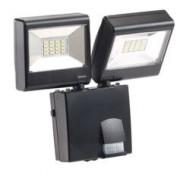 Luminea Double projecteur à LED avec détecteur de mouvement PIR - 230 V