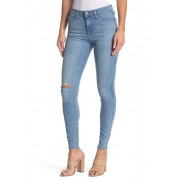 FIDELITY DENIM Sola Skinny Distressed Jeans BLUE CRUSH