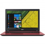 "NOTEBOOK ACER I3-7020U ASPIRE A3 4GB 1TB 15.6"" RED W10HSL S/DVD"