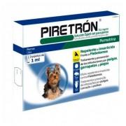 DIPTRÓN-PIRETRÓN Piretron 3 Pipetas Antipulgas, Garrapatas Y Mosquito Para Perros Perro Pequeño -15kg