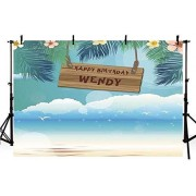 Zhyxia 75ft Diy Photo Booth Backdrop Summer Beach Tropical Backdrops Portrait Room Photography Background Birthday Background Wall Vinyl Cloth Photography Background for Studio Photo Props Photo Booth