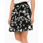 VERO MODA Floral Skirt Black