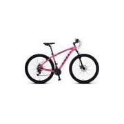 Bicicleta Colli em Alumínio Aro 29 MTB Suspensão Dianteira Freios á Disco Colli - 531 - Rosa