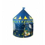 Cort pliabil tip castel de joaca pentru copii dimensiuni 135x105cm