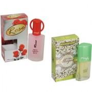 Skyedventures Set of 2 Rose 30ml-Attar mogra 20ml Perfume