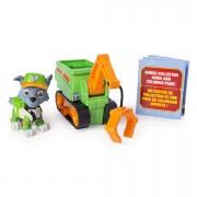 Set Rocky si mini masina de reciclat cu macara Ultimate Rescue Patrula Catelusilor