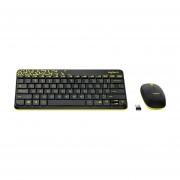 Juego de teclado y mouse inalámbricos Logitech MK240 Nano - Negro